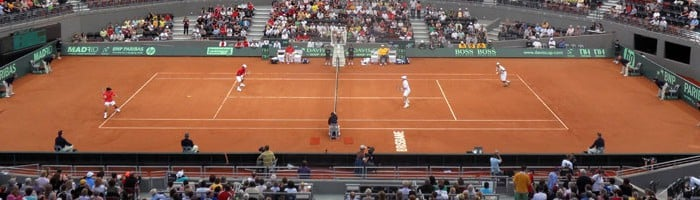Temporary Clay Court for Davis Cup